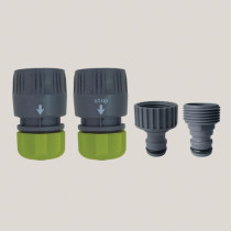 Set 4 conectori - plastic 12-15 mm x 1/2""