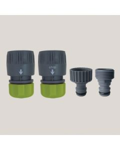 Set 4 conectori - plastic 19 mm x 3/4""