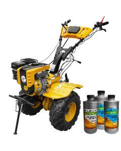 Motocultor Profesional AgroPro, Progarden HS 1000B, Super-Balon, far, motor 7 CP, latime de lucru 130 cm, senzor de ulei, roti balon 19x7-8