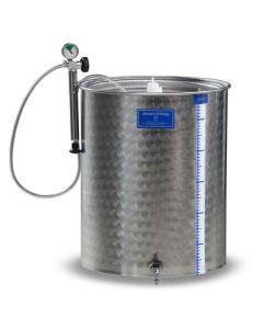 Cisterna inox cu capac flotant cu garnitura Marchisio SPA200B 200L diametru 650mm