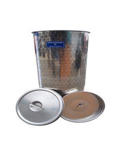 Cisterna inox Marchisio cu capac flotant cu ulei de parafina 150L diametru 477mm inaltime 900mm