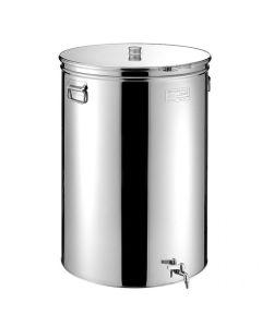 Cisterna inox MetalBox 110 litri capac antipraf si manere laterale diametru deschidere 375mm