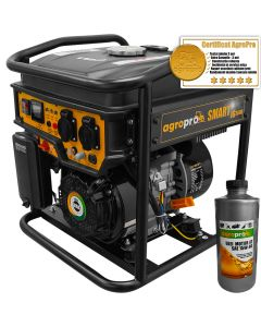Generator Invertor profesional AgroPro SMART IG 3600, putere 3 KVA, AVR, motor 7CP, benzina, monofazat, 1l ulei motor AgroPro
