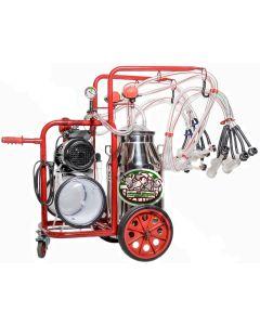 Mulgatoare Milka bidon aluminiu 4 posturi pentru oi si capre