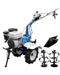 Motocultor Premium AGT 7500 motor Honda GP200 6.5CP latime lucru 80cm freze roti cauciuc rarita fixa