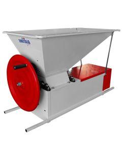 Zdrobitor desciorchinator manual ENO 3 Smalto role aluminiu tambur inox 1200 kg/h Fabricat in Italia