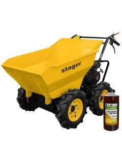 Roaba basculanta cu motor termic Stager RMT300 motor 6.5 CP sarcina 300 kg 4 roti 1l ulei AgroPro